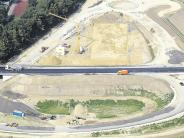 Luftbild: B-300-Auffahrt nimmt Gestalt an