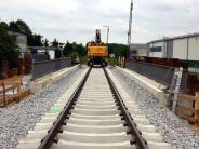 Bildergalerie: Brückeneinschub am Aichacher Bahnübergang