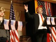 Narrensitzung: Trump hat in Zell einen großen Auftritt