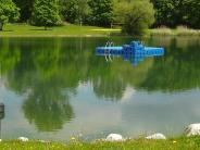 Neuanschaffung: Zum Ausruhen und Sonnen: Badeinseln für die Sander Seen