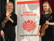 Aichach-Friedberg: Preisgekröntes Violinen-Duo aus Obergriesbach und Augsburg