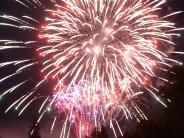 Aichach: Feuerwerk erleuchtet Aichacher Abendhimmel