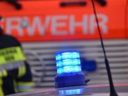 Polizei: Bei Drescharbeiten gerät Feld bei Erdweg in Brand