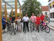 Wahlkampfaktion: Rote Radler auf Sommertour durch Aichach