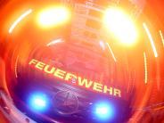 Friedberg-Wulfertshausen: Bauwagen steht in Flammen