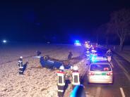 Polizeireport: Auto landet auf dem Dach