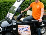 Mobilität: Ein Golfmobil als Firmenwagen