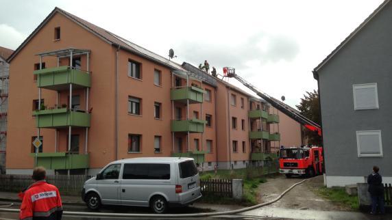 Gersthofen: Dachstuhl in Flammen: Polizei entdeckt Hinweise auf Brandstiftung