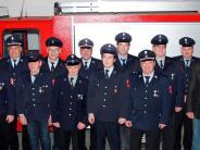 Jahresversammlung: Feuerwehr zeichnet Mitglieder aus