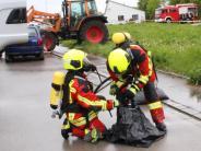 Nordendorf: Achtung, Gefahrgutunfall - zumindest in der Übung