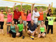 Einweihung: Neuer Beachvolleyballplatz in Wollbach