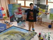 Kunst: Markus Zerle steht am liebsten an der Staffelei