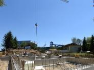 Titania-Bad: Hier schwitzen die Bauarbeiter und später die Saunagäste