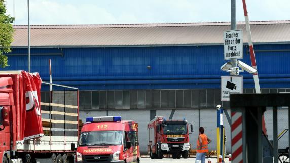 Meitingen: Explosion in den Lechstahlwerken