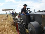 Termin: Eine Ernte mit alten Maschinen