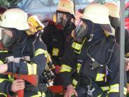 Großübung: Acht Feuerwehren proben den Ernstfall