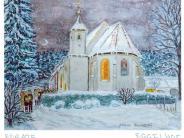 Weihnachtskarte: Ein Licht in die Welt