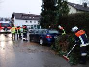Landkreis Augsburg: Burglind wirbelt durch das Augsburger Land
