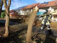 Landkreis Augsburg: Burglind hinterlässt blaues Auge