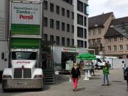 Augsburg: Werbe-Laster sollen aus Innenstadt verschwinden