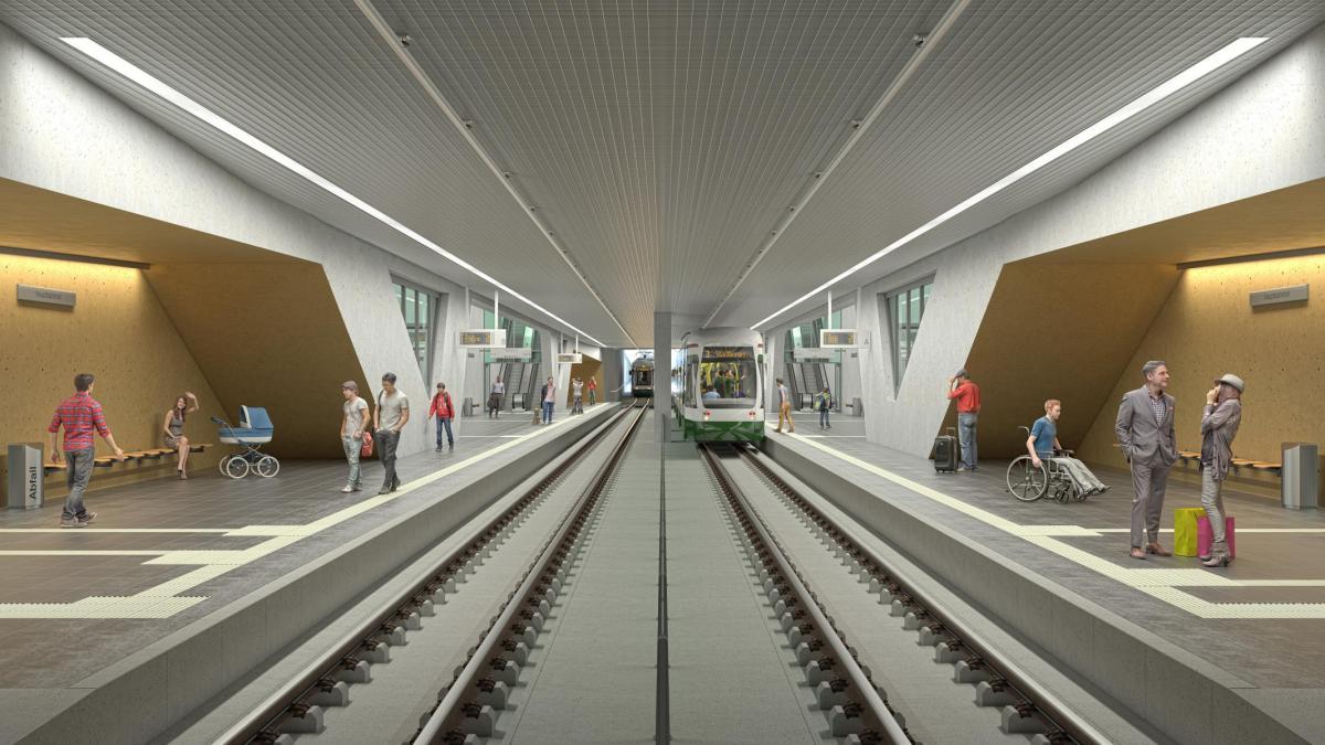 augsburg neuer tram bahnhof 3d modelle zeigen wie er. Black Bedroom Furniture Sets. Home Design Ideas