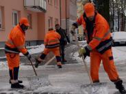 Schnee und Eis: Tonnenweise Streugut und bittere Kälte: Der Winter in der Region