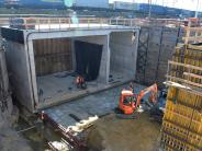 Augsburg: Fotos vom Bahnhofstunnel: Hier werden 1500 Tonnen Beton bewegt
