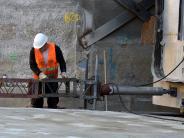 Bahnhofstunnel: So werden 1500 Tonnen Beton auf der Großbaustelle bewegt
