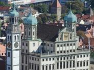 Karte: Städte mit Doppelgängern: Augsburg in den USA, Neuburg in Schweden