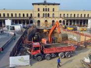 Augsburg: Das tut sich hinter dem Bauzaun am Bahnhof