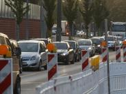 Augsburg: Baustelle in der Friedberger Straße: Autofahrer müssen Geduld haben