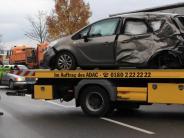 Unfall: Nahe des Laugnakreisels hat es gekracht