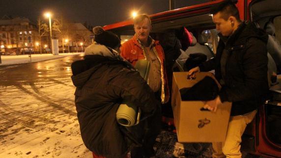 Augsburg: Wie es Obdachlose in der Kälte aushalten