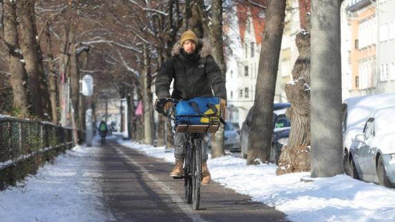 Augsburg: Radler können Problemstellen dem Winterdienst melden