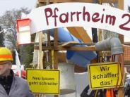 Augsburg: Narredei rund ums Pfarrheim