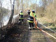 Aichach-Friedberg: Waldbrand in den Lechauen zwischen Auensee und Kuhsee