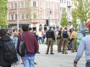 Augsburg: Bisse und Ohrfeige am Königsplatz