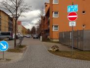 Drei-Auen-Quartier: Ein Verkehrsschild sorgt für Verdruss