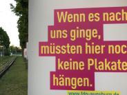 Augsburg: Bundestagswahl:Zwei Plakate, zwei Botschaften