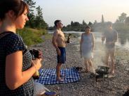 Augsburg: Ein perfekter Sommerabend an der Wertach