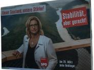 Bundestagswahl 2017: Verplakatiert: CDU lässt aus Versehen SPD-Plakate aufhängen