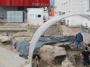 Augsburg: Archäologen graben Reste der Augsburger Stadtmauer aus