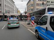 Augsburg: Tram-Stromabnehmer auf Auto gestürzt: Linien 1 und 2 waren betroffen