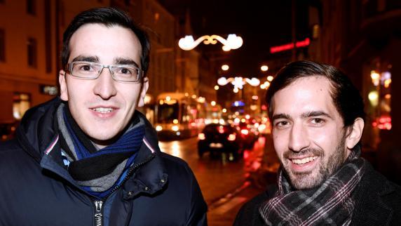 Begegnung: Zwei Männer, zwei Parteien, ein Stadtteil
