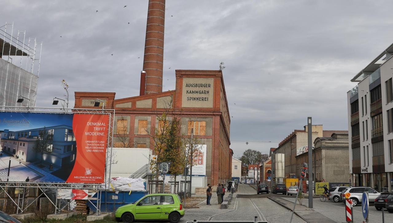 augsburg neues wohnen in alten fabrikhallen lokales augsburg augsburger allgemeine. Black Bedroom Furniture Sets. Home Design Ideas
