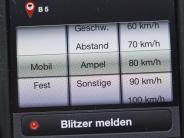 Recht im Verkehr: Aktivierte Blitzer-App gilt als Radarwarner