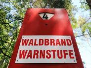 Warnstufe fünf: Waldbrandgefahr steigt: Rauch- und Grillverbot bis Herbst