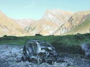 Prozess in Memmingen: Ausgebranntes Auto in den Alpen: Besitzer muss nicht in die Psychiatrie