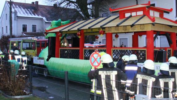 Der Umzug in Waidhofen wurde nach dem Unfall