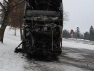 Kreis Lindau: Technischer Defekt war schuld an Busbrand bei Oberreute